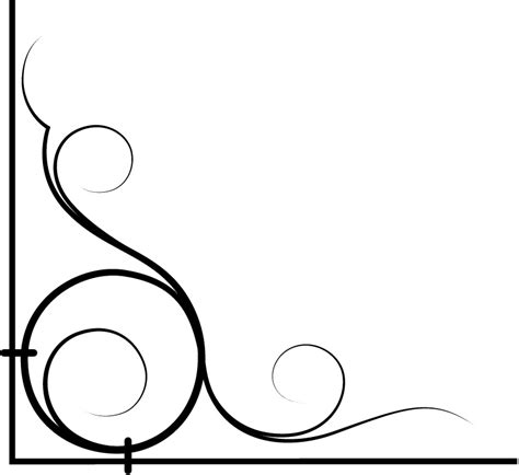 Border Sticker Blue And Brown Line wrought iron style corner wall border wall stickers wall