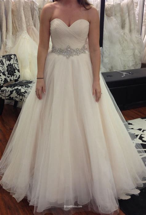 gown strapless tulle bridal wedding dress sweetheart