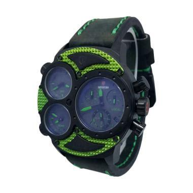 Tali Jam Kulit Pria Wanita Expedition 24 Mm jual expedition 140287 chronograph tali kulit jam tangan pria hitam hijau harga
