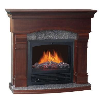 quality craft 47 in electric fireplace in walnut som480pg