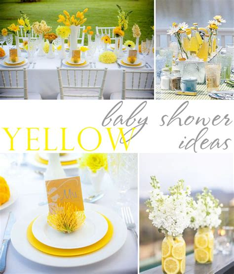 Yellow And White Baby Shower Ideas by Yellow Baby Shower Inspiration The Celebration Shoppe