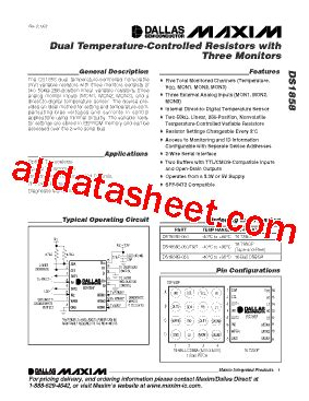 maxim integrated products questions ds1858 datasheet pdf maxim integrated products