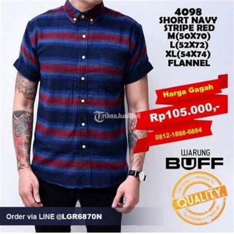 Kemeja Batik Pria Peta kemeja lengan pendek pria stripe terbaru 2016 harga