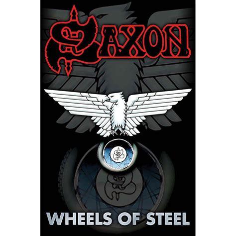 Kaos Fangkeh Saxon Wheels Of Steel saxon wheels of steel poster flag rockabilia