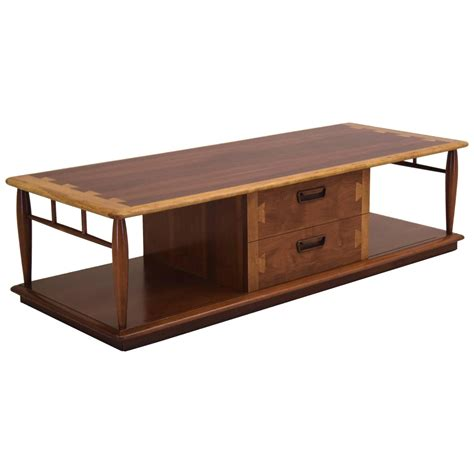 Large Storage Coffee Table Acclaim Large Coffee Table In Walnut And Oak With Storage At 1stdibs
