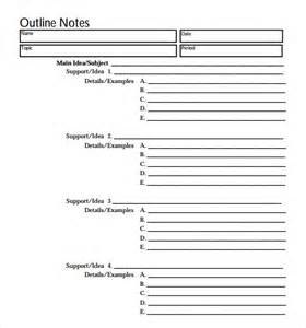 free outline template blank outline template 7 free documents in pdf