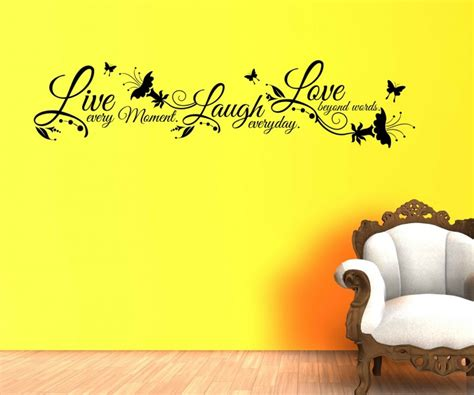 wandtattoo spruch live laugh love wandsticker zitate