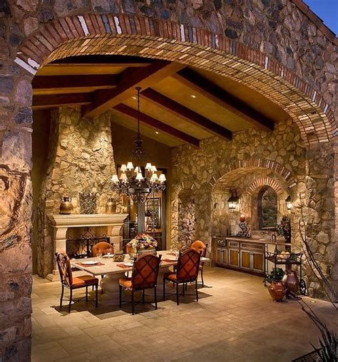 renaissance themed living room living area patio unit the villa big stone fireplace with dining bedroom pinterest