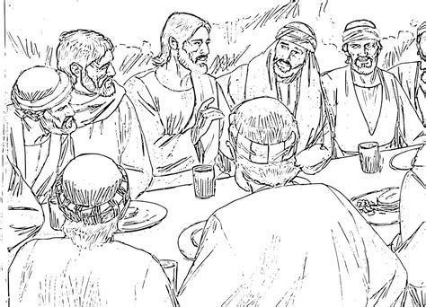 foot washing jesus last supper coloring page coloring pages