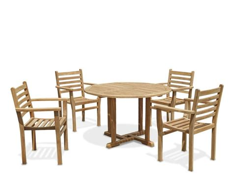 canfield patio garden table and stackable chairs set