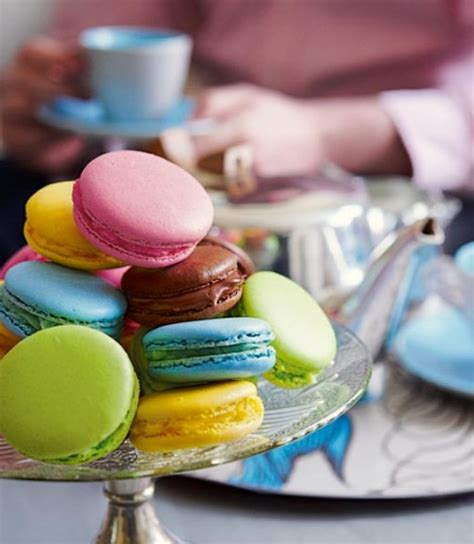 multicoloured macaroons delicious magazine