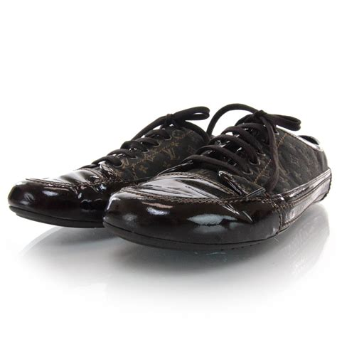 louis vuitton mini monogram sneakers tennis shoes 38 5