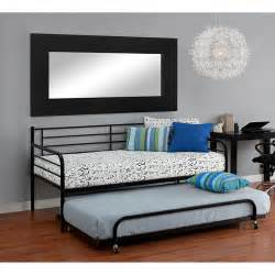 Black Metal Daybed Metal Daybed With Trundle Black Walmart