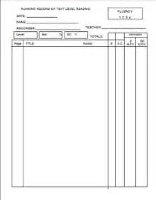 Running Record Template by What Are Your Goals Linky Jd S Rockin Readers
