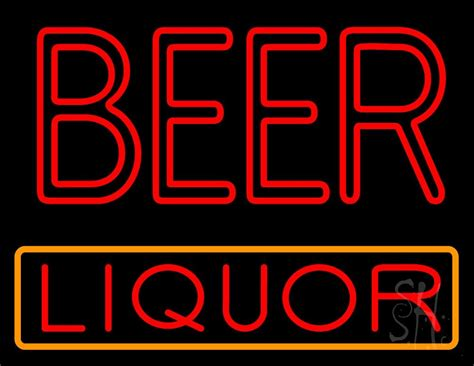 liquor signs red double stroke beer liquor neon sign liquor neon signs