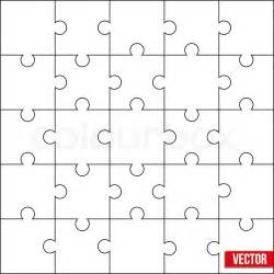 sample of jigsaw square puzzle blank template or cutting