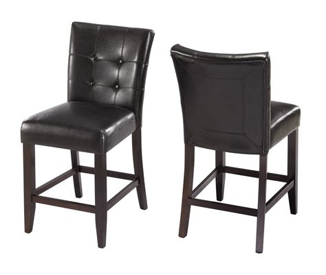 counter height 24 stools black set of 2 dining chairs kitchen furniture ebay