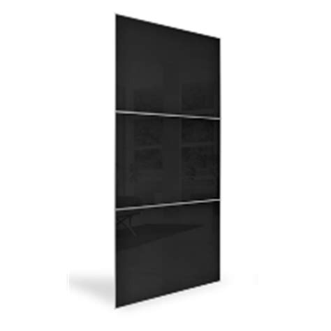 Bunnings Wardrobe Doors by Flatpax 700mm Framed Black Glass Sliding Wardrobe Door 2