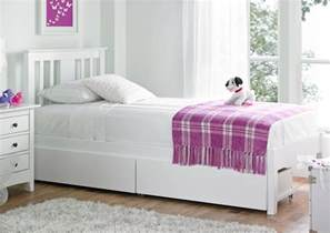 malmo white wooden bed frame single beds