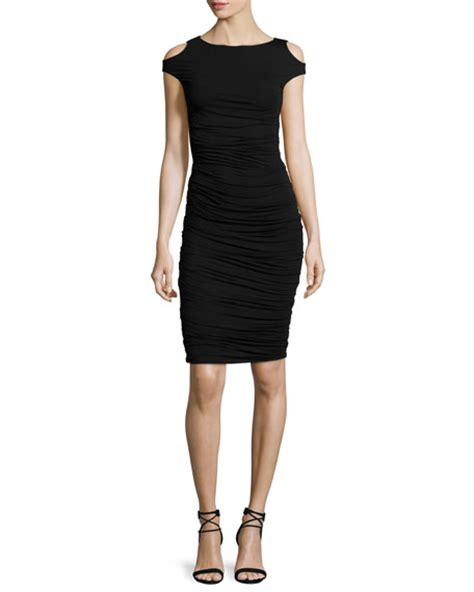Ca Dress Batik Shoulder Fani bailey 44 cyclades cold shoulder sheath dress black