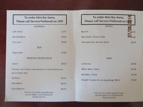 price room service room service price list picture of hotel grand pacific tripadvisor