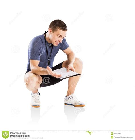 exercise couch fitness coach stock photos image 36595143