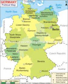 Political Map Of Germany by Germany Provinces Map