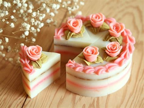 Beautiful Handmade Soap - roses and layered cake 4 quot cold process soap how