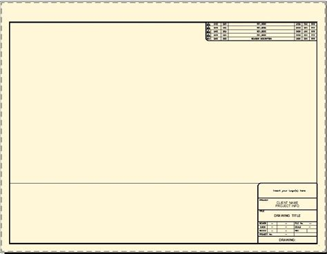 Title Blocks Cad Intentions Solidworks Drawing Template