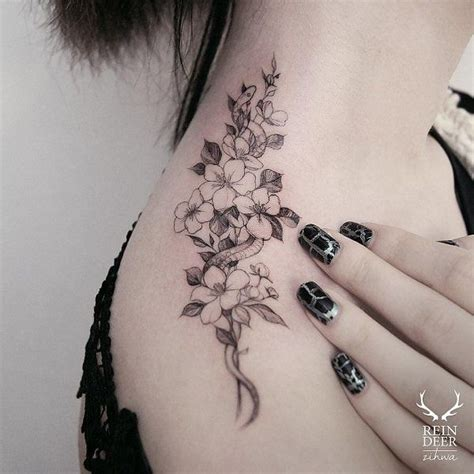 small flower tattoos on back shoulder best 25 flower shoulder tattoos ideas on
