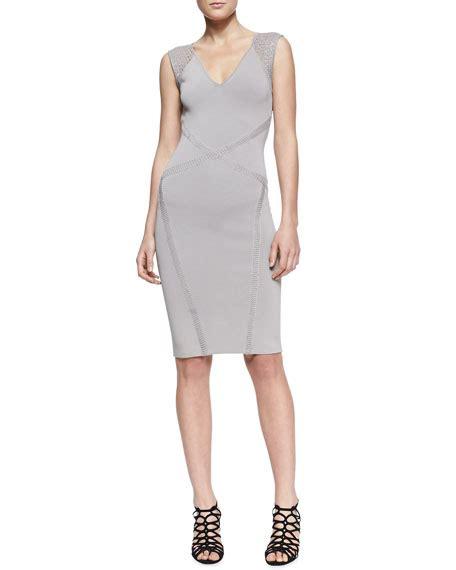 Cross Sheath Dress zac posen cross seam sleeveless sheath dress