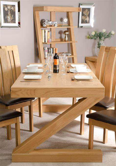 Chunky Dining Room Table Z Solid Oak Designer Furniture Large Chunky Dining Room Table Ebay