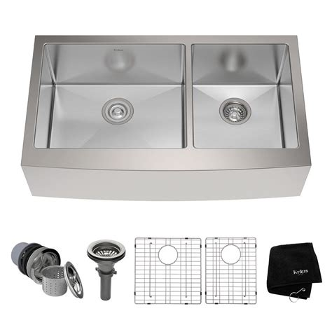 kraus 36 apron sink kraus farmhouse apron front stainless steel 36 in