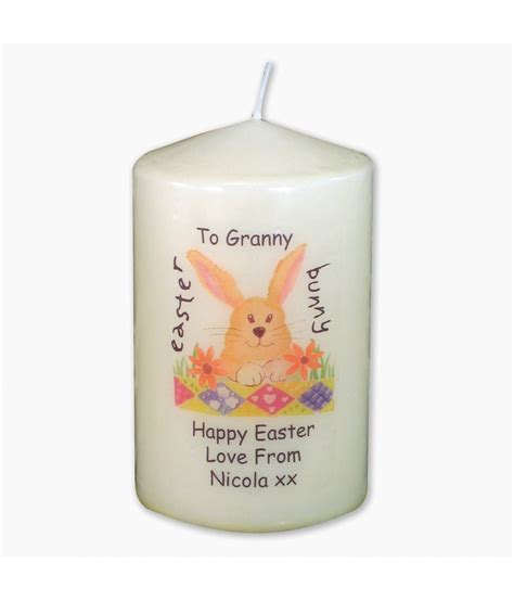 personalised easter candle just for gifts