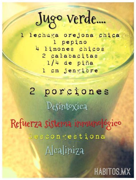 Jugos Detox Argentina by Jugo Verde Desintoxicante Y Alcalinizante Lechuga Pepino