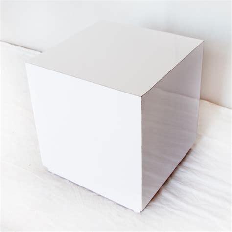 event furniture white plexi cube end table