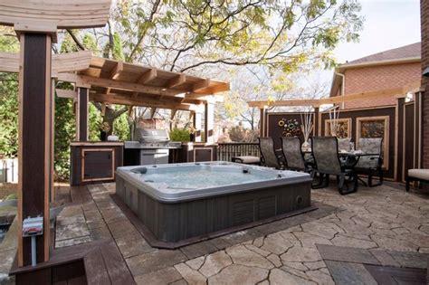 Patio Deck Designs Tub Gorgeous Decks And Patios With Tubs Tub Deck