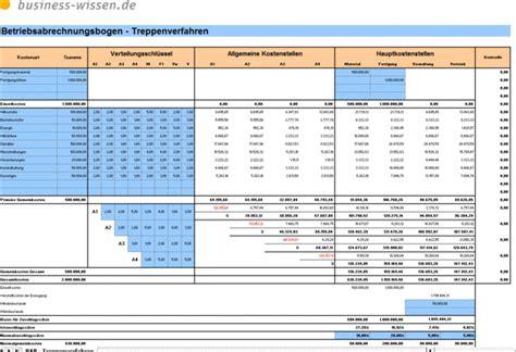 betriebsabrechnungsbogen bab nach dem treppenverfahren