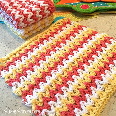 zig zag shell crochet pattern easy zigzag hand towel crochet pattern
