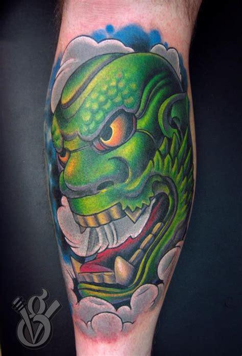 green hannya mask tattoo paradise tattoo gathering tattoos jon von glahn