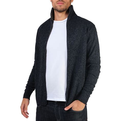 knitting pattern mens zip cardigan mens soft woollen knit zip up funnel neck grandad cardigan