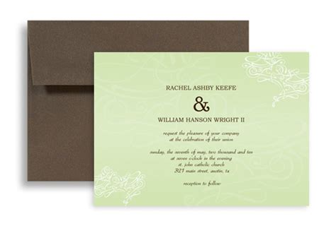 horizontal wedding invitation templates simple light color wedding invitation templates 7x5