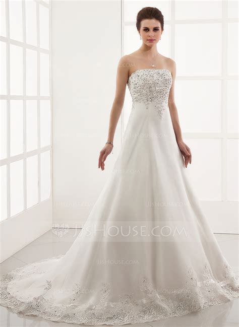 hochzeitskleid jjshouse a line princess sweetheart chapel train tulle wedding