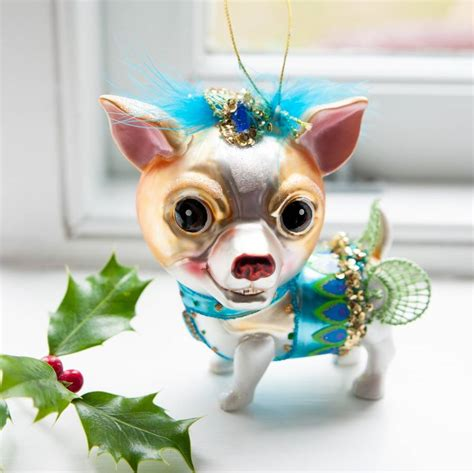 chihuahua decorations glass chihuahua bauble by the home