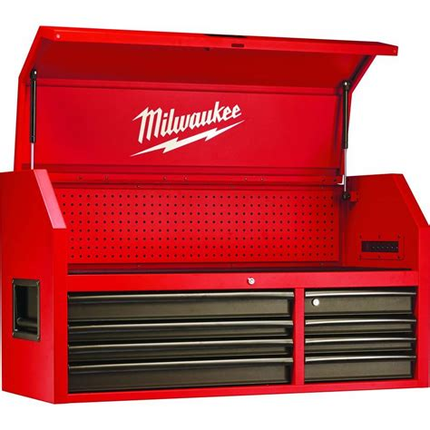 Milwaukee 46 in. 8 Drawer Steel Storage Chest, Red and Black 48 22 8510   The Home Depot