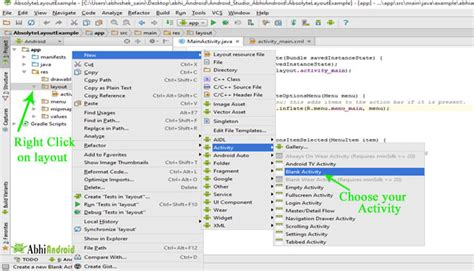 android studio create layout folder how to create new activity in android studio