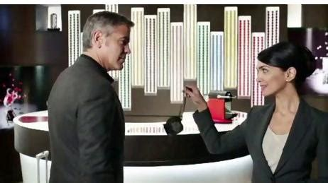 nespresso commercial female actress clooney stars with boniadi in new espresso commercial