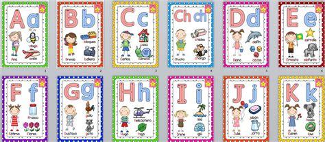 imagenes en ingles del alfabeto super abecedario para trabajar las letras y la motricidad