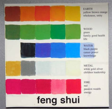 feng shui color by the elements lifestyle feng shui lutions pinte