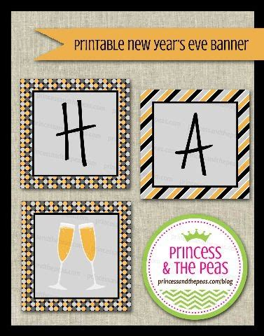 printable new years eve banner 22 best images about new year s eve on pinterest